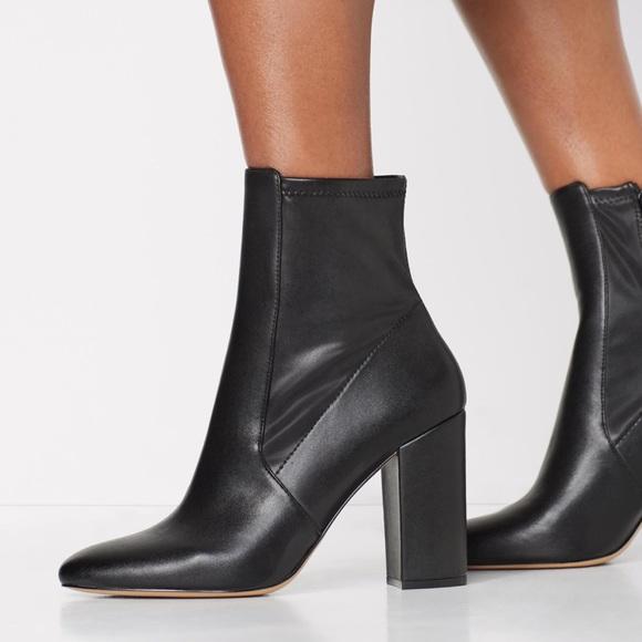 Aurella Black Leather Fashion Boots ALDO Heels